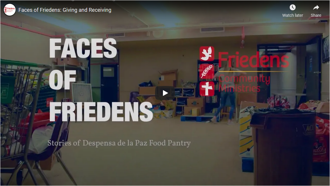 Faces of Friedens: Giving and Receiving